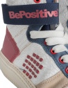 BePositive Veeshoes white red blue high top sneakers for women price 8FSUONO03/LEA/WRN-TRACK shop online