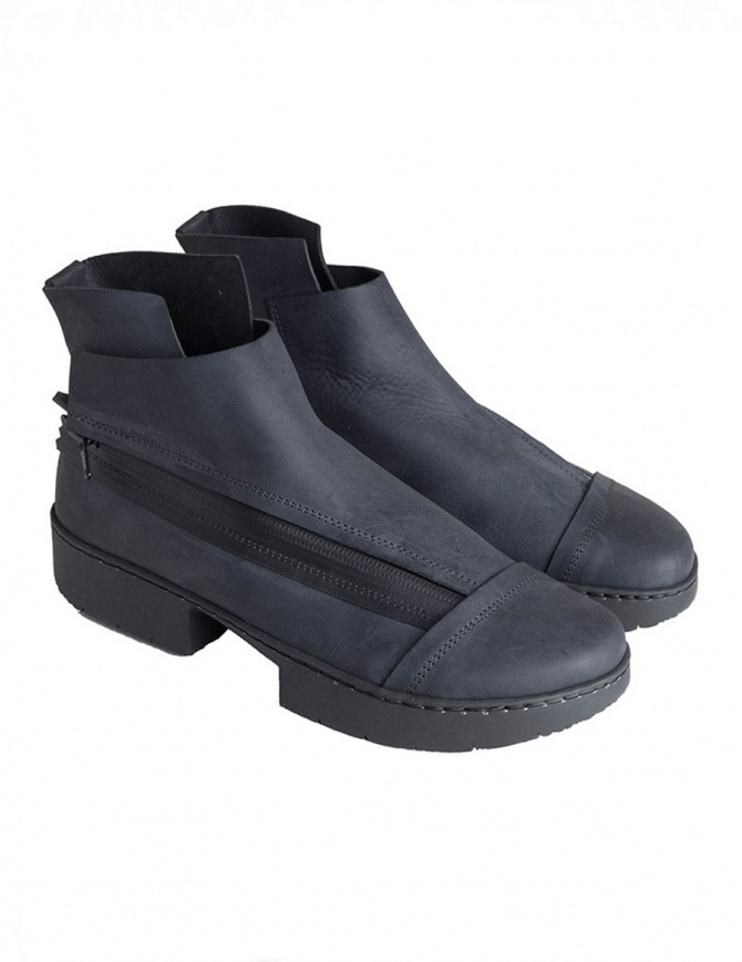 Trippen Immature Unisex Black Ankle Boot IMMATURE F+M BLK PUL womens shoes online shopping