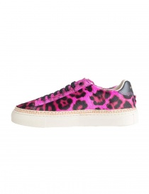 BePositive Anniversary fuchsia leopard-skin sneakers for women womens shoes buy online