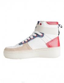Sneakers alte BePositive Veeshoes bianche rosse blu da uomo