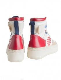 Sneakers alte BePositive Veeshoes bianche rosse blu da uomo calzature uomo acquista online