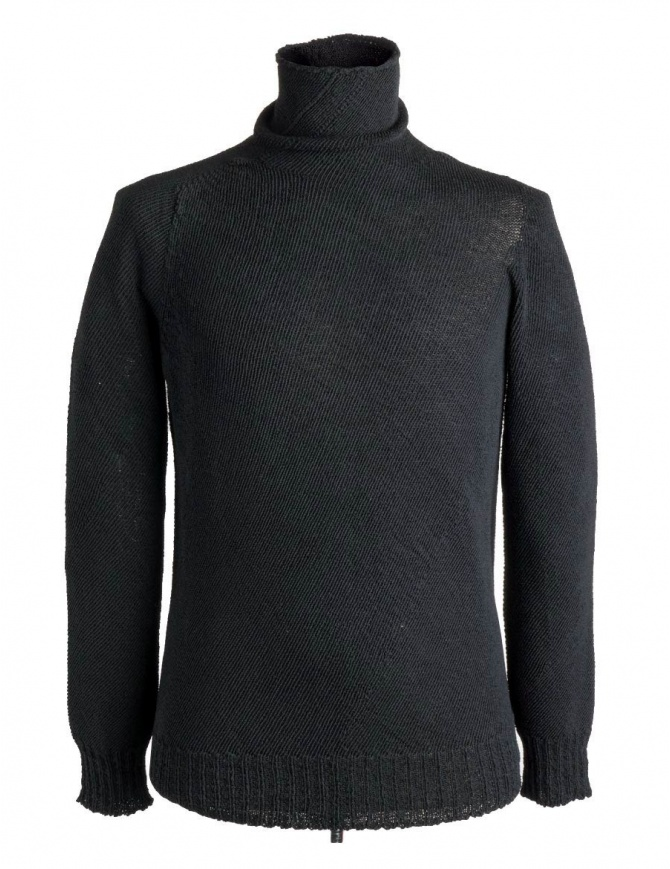 Carol Christian Poell turtleneck sweater in black KM/2630-IN PENTASIR/10 mens knitwear online shopping