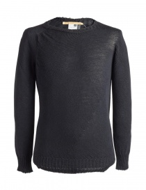 Mens knitwear online: Carol Christian Poell anthracite black crew neck sweater