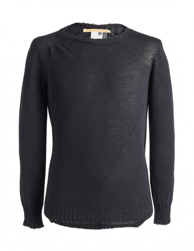 Carol Christian Poell anthracite black crew neck sweater KM/2629-IN PENTASIR/10 mens knitwear online shopping