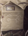 Carnet bag in leather and beige canvas GD-CM10017 XLARGE price