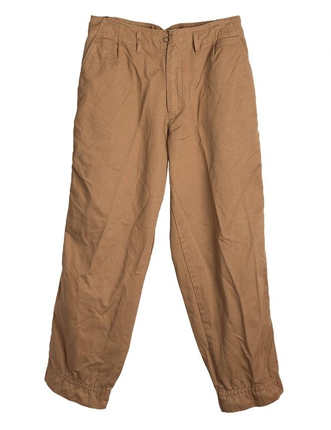 Beige Kolor Beacon trousers 18WBM-P05139 A-NAT.BEIGE mens trousers online shopping