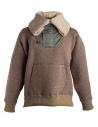 Kolor beige wool jacket with hool shop online mens jackets