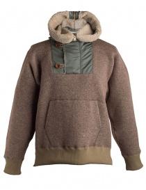 Giacca in lana con cappuccio Kolor beige prezzo