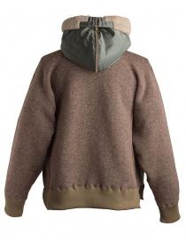 Kolor beige wool jacket with hool mens jackets buy online