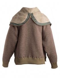 Giacca in lana con cappuccio Kolor beige giubbini uomo prezzo