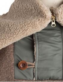 Giacca in lana con cappuccio Kolor beige acquista online prezzo