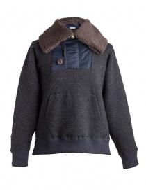 Giacca in lana con cappuccio Kolor charcoal