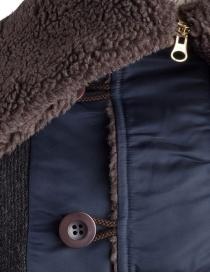 Giacca in lana con cappuccio Kolor charcoal prezzo