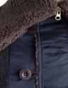 Kolor charcoal wool jacket with hood 18WBM-T01232 B-CHARCOAL price