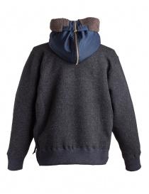 Giacca in lana con cappuccio Kolor charcoal giubbini uomo acquista online