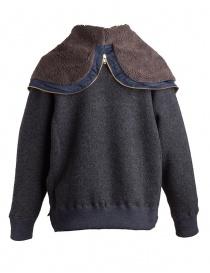 Giacca in lana con cappuccio Kolor charcoal giubbini uomo prezzo