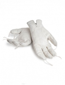Carol Christian Poell light grey kangaroo leather gloves with tassels price