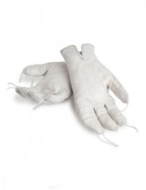 Guanti in pelle di canguro con nappine Carol Christian Poell grigio chiaro prezzo