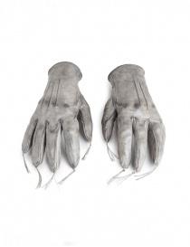 Guanti in pelle di canguro con nappine Carol Christian Poell grigi