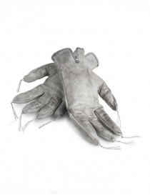 Carol Christian Poell kangaroo grey leather gloves with tassels price