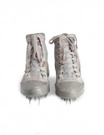 Sneakers alte Carol Christian Poell in verde militare e grigio calzature uomo prezzo