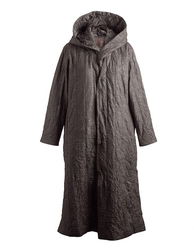Cappotto Plantation lungo stropicciato verde militare PL88FA719-09 KHAKI cappotti donna online shopping