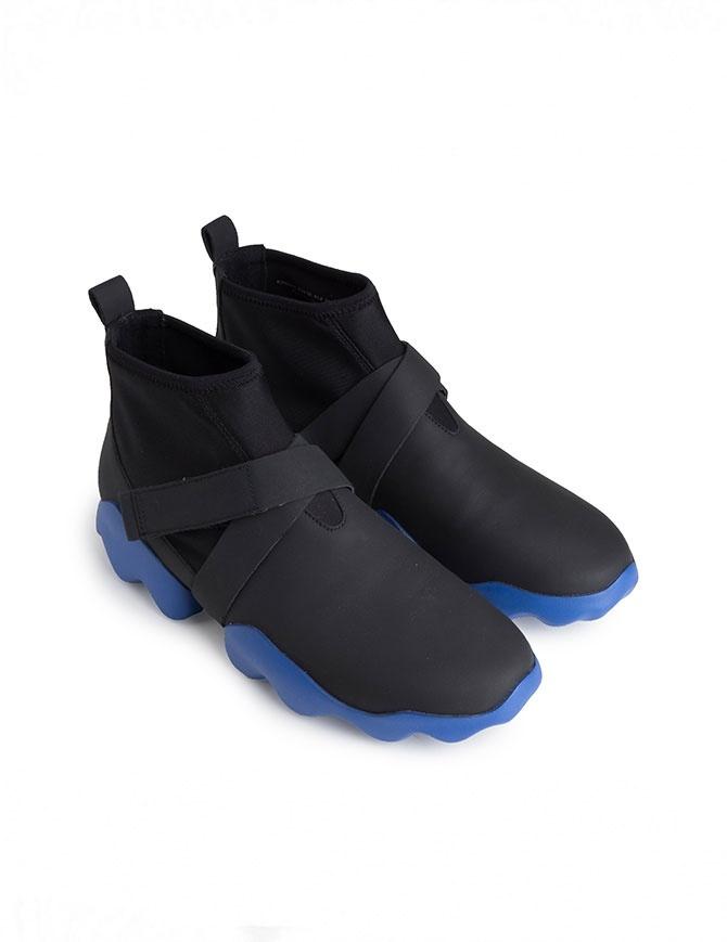 Sneaker alta Camper Dub nera e blu K300072-010-MUGELLO calzature uomo online shopping