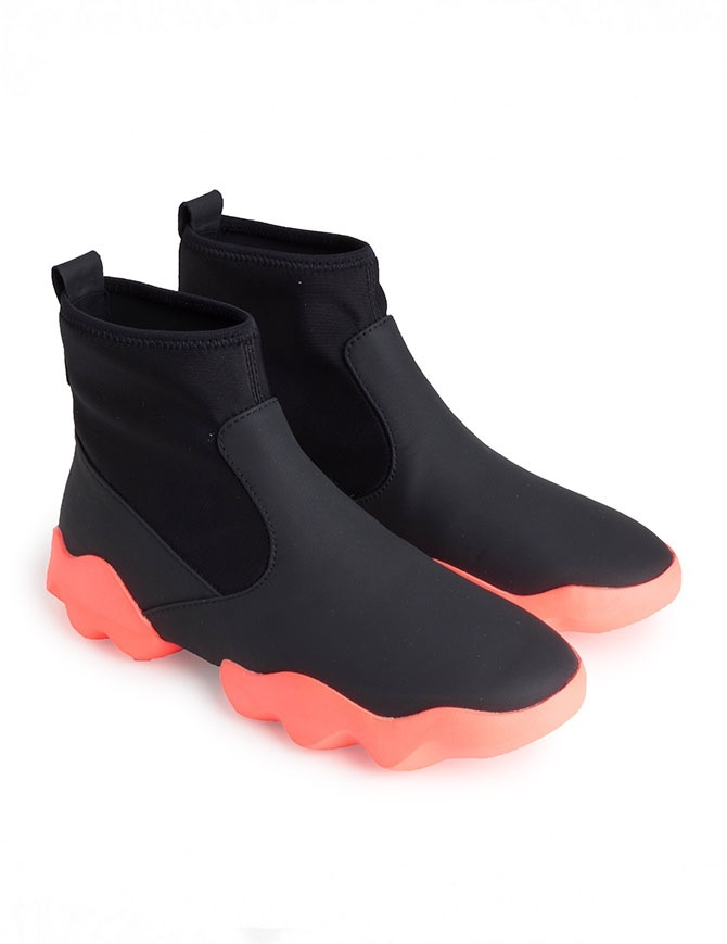 Dub Camper high-top sneakers in black and fluo pink K400109-010 MUGELLO womens shoes online shopping
