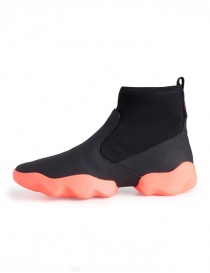 Dub Camper high-top sneakers in black and fluo pink