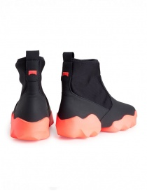 Dub Camper high-top sneakers in black and fluo pink price
