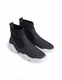 Mens shoes online: Dub Camper high-top sneakers in black and white