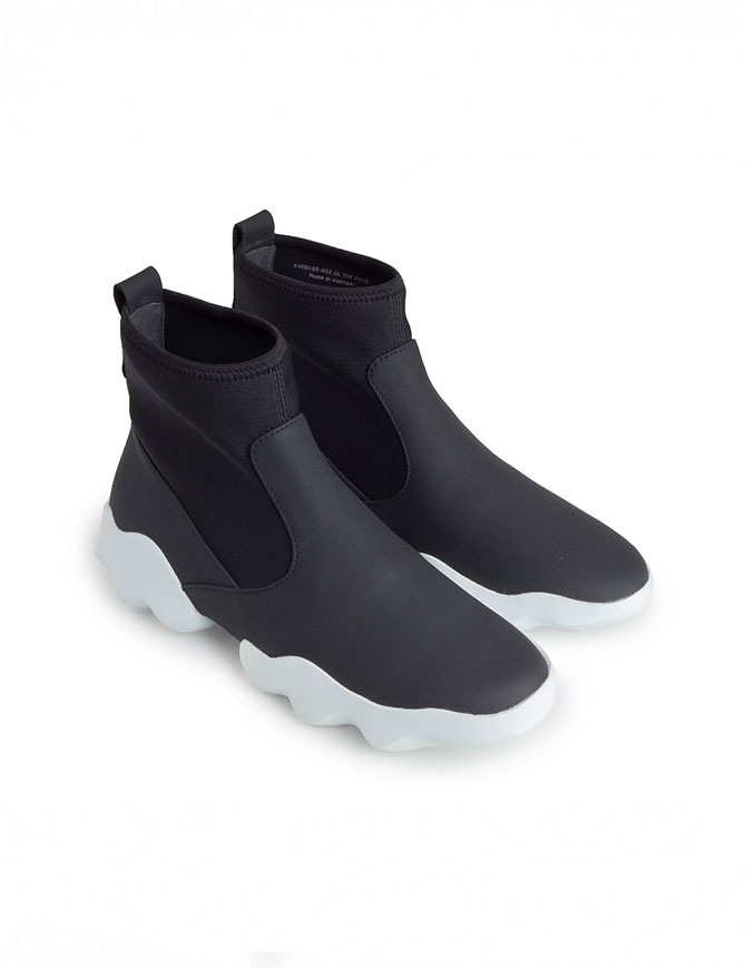 Dub Camper high-top sneakers in black and white K400109-002 MUGELLO mens shoes online shopping