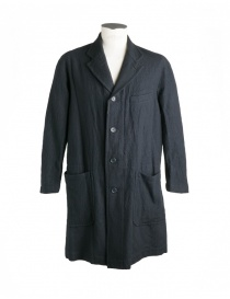 Mens coats online: Sage de Cret dark grey coat