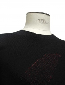 Label Under Construction Encaged Scraps black sweater mens knitwear buy online