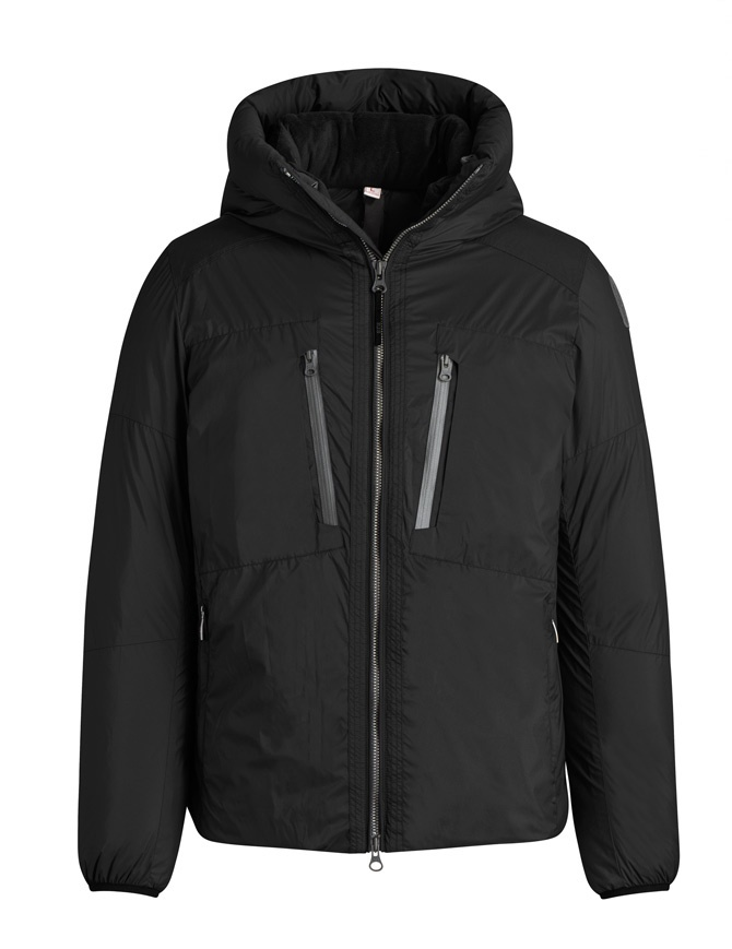 9a0b2f679002 Parajumpers Kara black hooded down jacket PM JCK KP01 KARA 541 mens jackets  online shopping