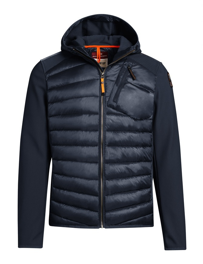 Parajumpers Nolan navy blue jacket with hood for man PM JCK WU02 NOLAN 560 mens jackets online shopping
