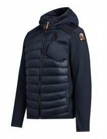 Parajumpers Nolan navy blue jacket with hood for man