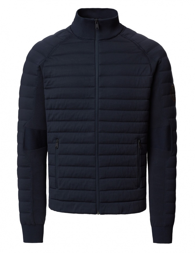Ze-Knit by Napapijri Ze-K100 blue bomber N0YI3D176-ALT6 mens jackets online shopping