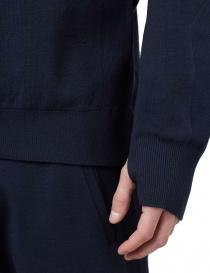 Ze-Knit by Napapijri crew neck blue navy pullover Ze-K106 mens knitwear buy online