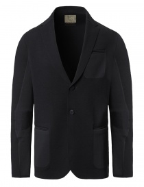 Mens suit jackets online: Ze-Knit by Napapijri black blazer Ze-K102