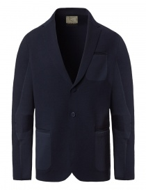 Mens suit jackets online: Ze-Knit by Napapijri blue blazer Ze-K102