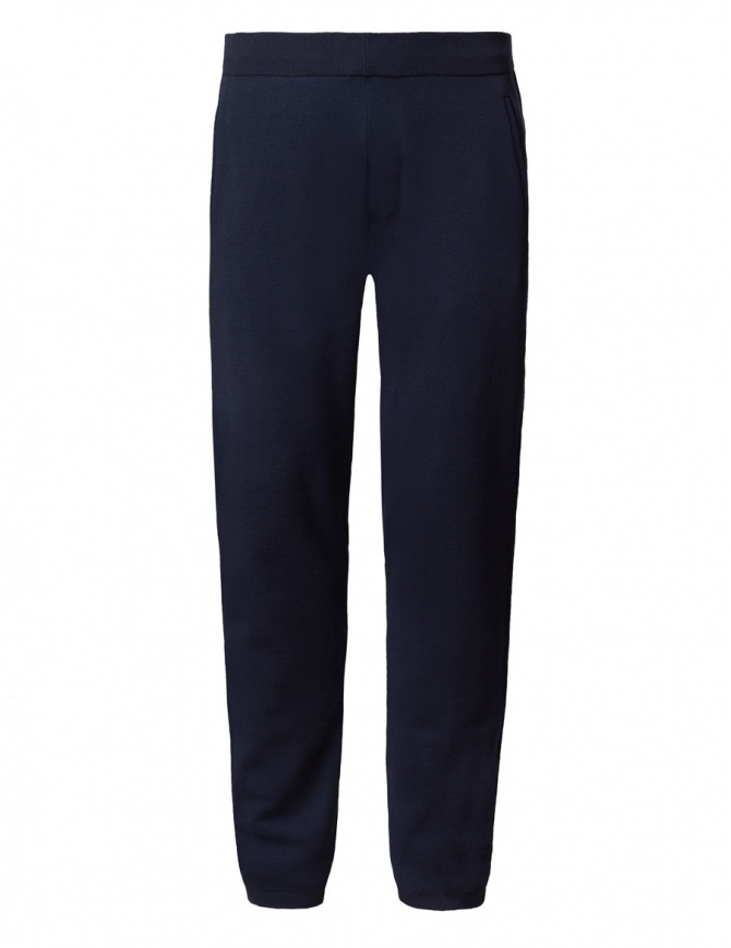 Ze-Knit by Napapijri blue sweatpants Ze-K107 N0YHW9176-ZE-K107 BLU MAR mens trousers online shopping