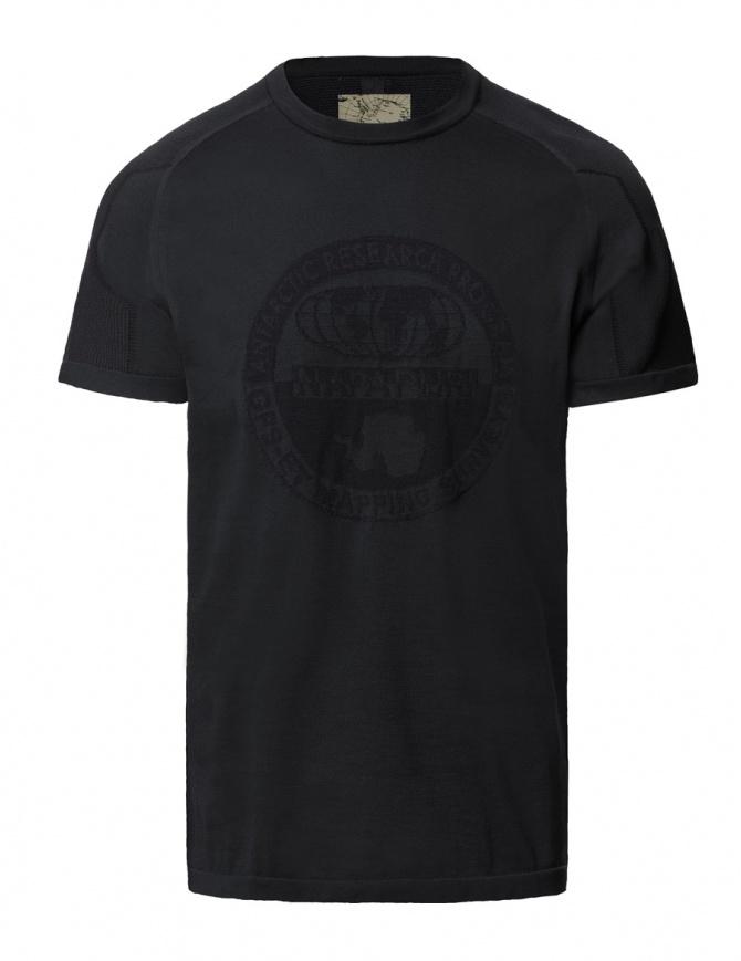 Ze-Knit by Napapijri black T-shirt Ze-K109 N0YI3Q041-ZE-K109 BLACK mens t shirts online shopping