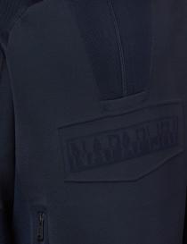 Ze-Knit Napapijri felpa Rainforest Ze-K103 blu con cappuccio prezzo
