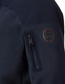 Ze-Knit by Napapijri Rainforest Ze-K103 hooded sweatshirt in blue mens knitwear buy online