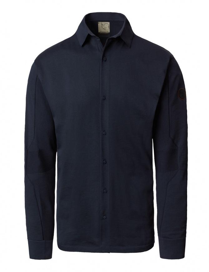 Camicia a maniche lunghe Ze-K110 Ze-Knit by Napapijri blu N0YHW6176-ZE-K110-BLU camicie uomo online shopping