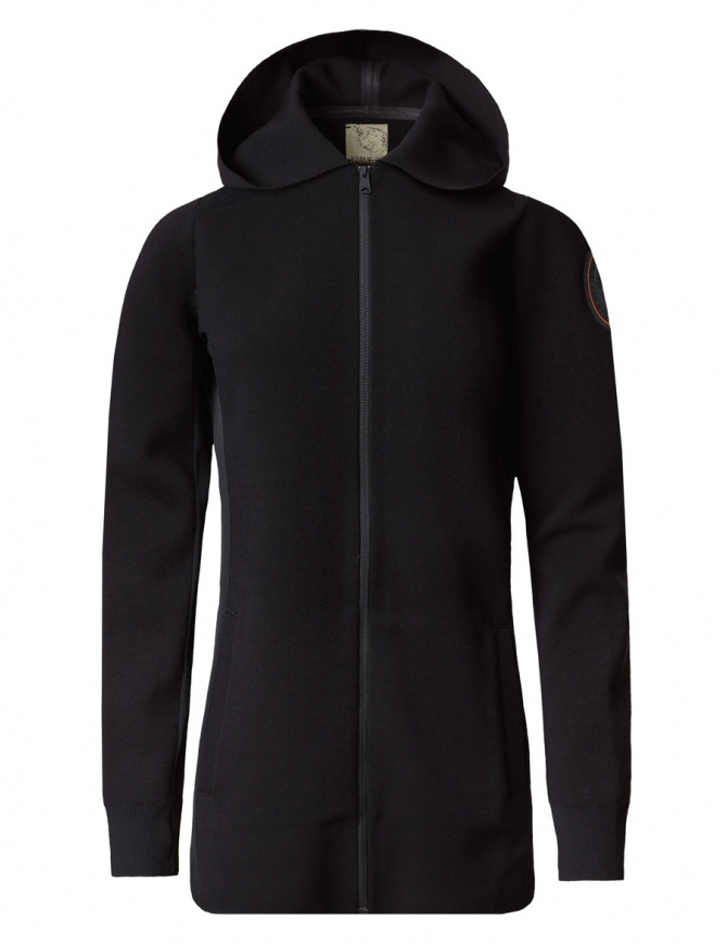 Giacca Lunga Ze-K201 Ze-Knit by Napapijri nera N0YHYG041-ZE-K201-BLACK giacche donna online shopping