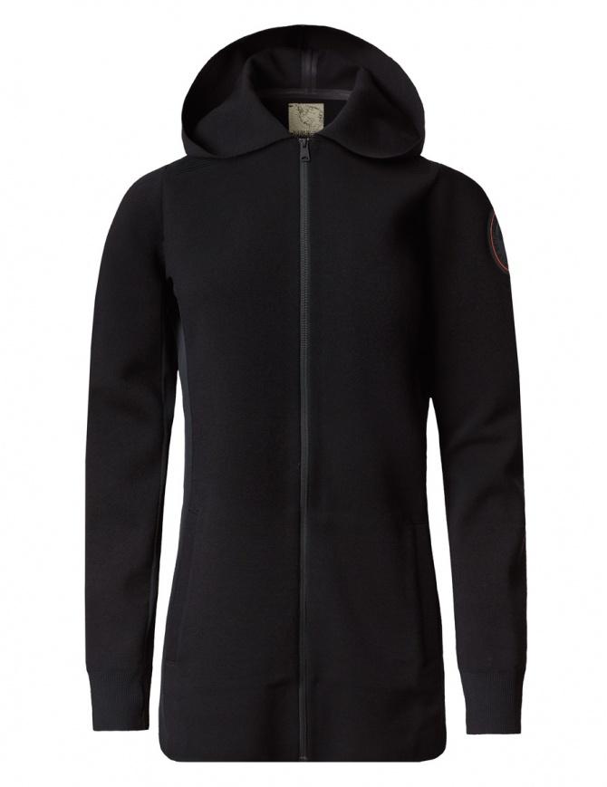 Ze-Knit by Napapijri Ze-K201 black long jacket N0YHYG041-ZE-K201-BLACK womens suit jackets online shopping