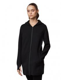 Ze-Knit by Napapijri Ze-K201 black long jacket womens suit jackets buy online