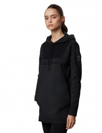 Ze-knit by Napapijri Ze-K206 long hooded black sweatshirt